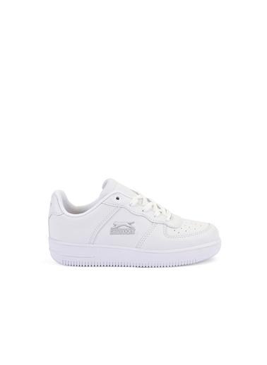 Slazenger Unisex Çocuk FAYE Spor Ayakkabı SA28LF014K-000 Beyaz